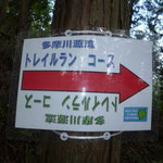 10」19 トレイルランの標識