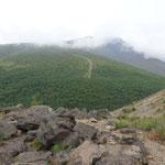浅間山は雲にお隠れ