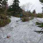 所々に残雪が