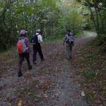 9:55 ほとんどの登山者は三つ峠へ、我々は清八林道に