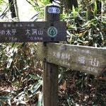 大垂水峠への分岐