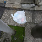 ゴミ一杯のビニール袋ごと捨てる人がいる