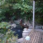 登山口横にある露天風呂