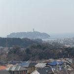 ここからは江ノ島が一望