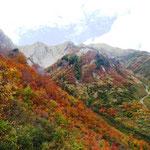 雨飾山と紅葉
