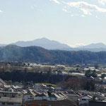 丹沢の大山よく見えます