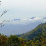 宿からは、鹿島槍ヶ岳と五竜岳が見えます