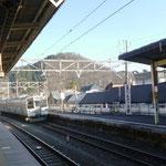 15:07 相模湖駅から嵐山の眺め