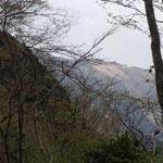 右手には大野山が見えます