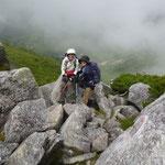 29日 スゴ乗越の手前の岩場