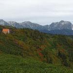 種池山荘と剱岳