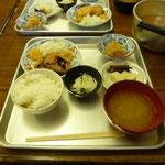 28日 五色山荘の夕食