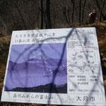 11:19 山頂に着 秀麗富嶽十二景の看板
