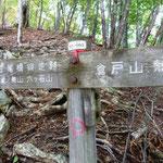 14:14 鷹巣山と倉戸山の分岐着、ここが榧ノ木山のはずだが、標識みつからず