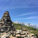 12:50「息ケルン」の先に白馬三山