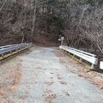 清水橋、ここから林道