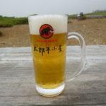 30日 太郎平小屋の生ビール