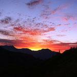 立山の夕景がきれいだ