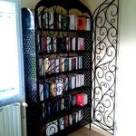 Bibliothèque de style marocain  en fer forgé