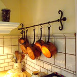 Porte ustensile de cuisine mural en fer forgé