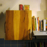 Küchenschranktür aus Apfelholz