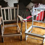 Aus altem Sperrmüll einen Modernen Sessel gebaut