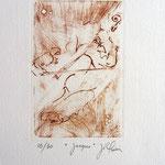* 1026-Gravure,estampe musique :  Jacques au violoncelle, le doyen du groupe,