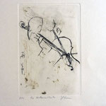 *1037-Gravure,estampe musique :  Brigitte et Jacques en répétition
