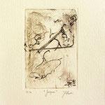 * 1017-Gravure,estampe musique :  Jacques au violoncelle, le doyen du groupe,