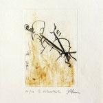 *1035-Gravure,estampe musique :  Brigitte et Jacques en répétition