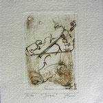 Gravure,estampe musique : * 1024- Jacques au violoncelle, le doyen du groupe,