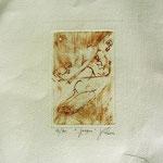 Gravure,estampe musique : * 1021- Jacques au violoncelle, le doyen du groupe,
