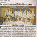 01 février 2009 - Le Dauphiné Libéré - Le judo-club (de Chindrieux) recevait Saint Alban Leysse