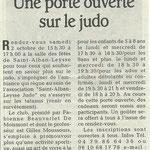 15 septembre 2010 - Le Dauphiné Libéré - Une porte ouverte sur le judo