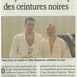 02 février 2011 - Le Dauphiné Libéré - Les judokas à la coupe des ceintures noires