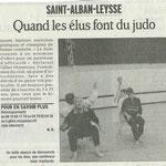 01 janvier 2009 - Le Dauphiné Libéré - Quand les élus font du judo