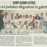 18 janvier 2011 - Le Dauphiné Libéré - Les jukokas dégustent la galette