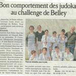 06 avril 2011 - Le Dauphiné Libéré - Bon comportement des judokas au challenge de Belley