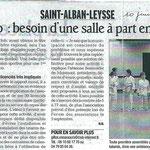 10 juin 2009  - Le Dauphiné Libéré - Judo : besoin d'une salle à part entière