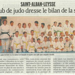 11 juin 2011 - Le Dauphiné Libéré - Le club de judo dresse le bilan de la saison