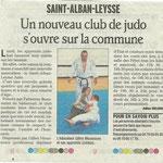 17 septembre 2008 - Le Dauphiné Libéré - Un nouveau club de judo s'ouvre dans la commune de Saint Alban Leysse
