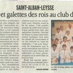 29 janvier 2010 - Le Dauphiné Libéré - Projets et galettes des rois au club de judo