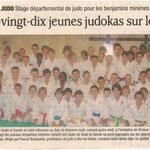 26 octobre 2011 - Le Dauphiné Libéré - Quatre-vingt-dix jeunes judokas sur le tatami