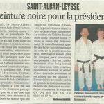09 février 2011 - Le Dauphiné Libéré - Ceinture noire pour la présidente