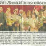 16 janvier 2012 - Le Dauphiné Libéré - Les Saint Albanais à l'honneur cette année