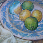 Gemälde 409   Sterbende Zitronen , Acryl auf Leinw.,2011, 38,5 x 50 cm