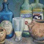 Gemälde 268   Ricard ,Acryl auf Leinw. ,2008, 34 x 46 cm