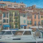 Gemälde 421  Ambiance Cote-D´Azur  Acryl auf Leinw.,2012,  50 x 60 cm