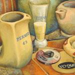 Gemälde 371 45 Umdrehungen a´la France  Acryl auf Leinw.,2010, 34 x 43 cm