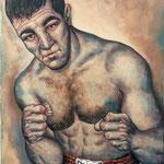 Gemälde 215   Rocky Marciano  Acryl auf Leinw.,2007,   50 x 70 cm